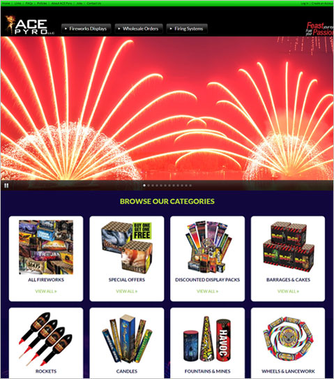 ASP.NET Powered Web Application for Michigan Fireworks Company