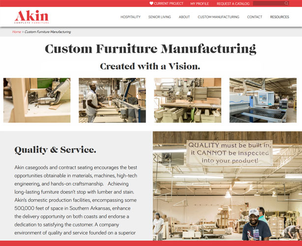 Development of a php website for usa online furniture store for Websites to sell furniture online