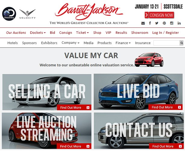 ASP.NET MVC Web App Development for Classic Car Auction Company Las Vegas
