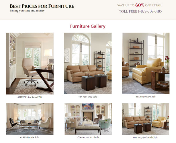 Php web development furniture e commerce store north carolina for Best place to sell furniture online