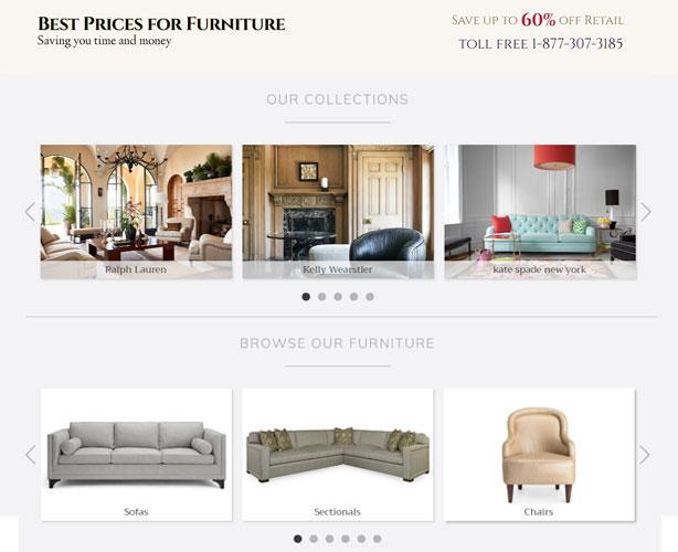 Ecommerce furniture store north carolina