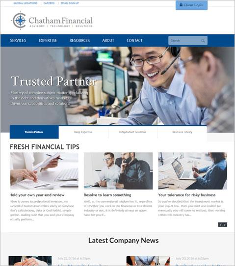WordPress CMS Powered Website for USA Financial Advisory Company