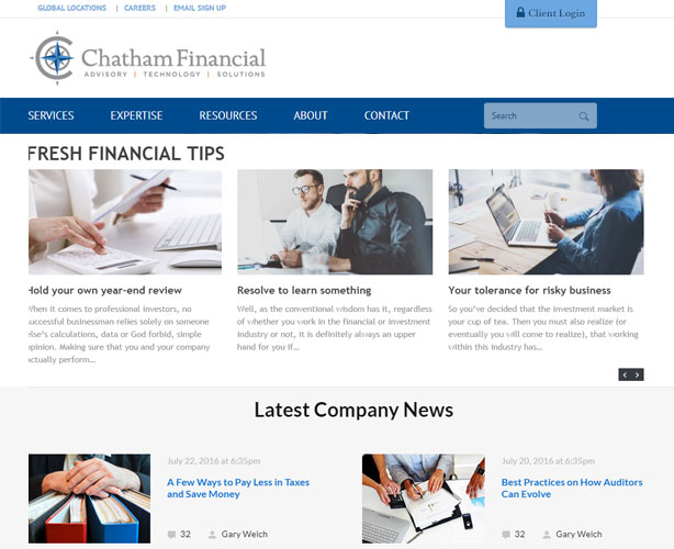 Website for USA Financial Advisory Company