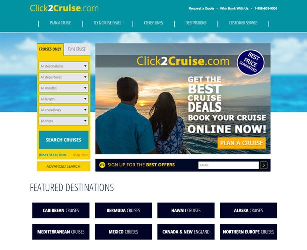 Cruise & Travel Web Development using ASP.NET MVC for Florida Cruise Line