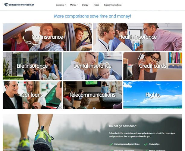 CakePHP Web Development of a Multilingual Financial Products - Price Compare Website