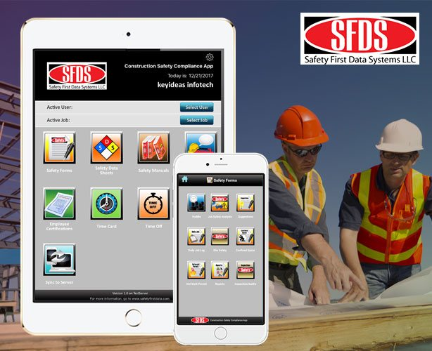 Construction Safety Compliance Tablet App for Android and iPad