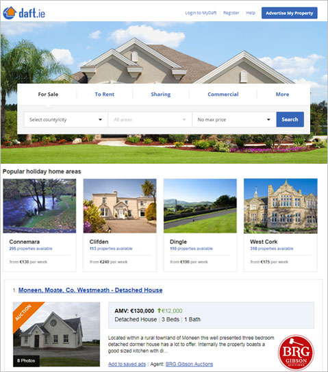 Web Application Development to find Real Estate Property in Ireland