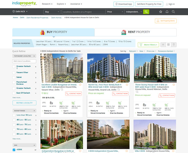 PHP based Real Estate Website for India Agent