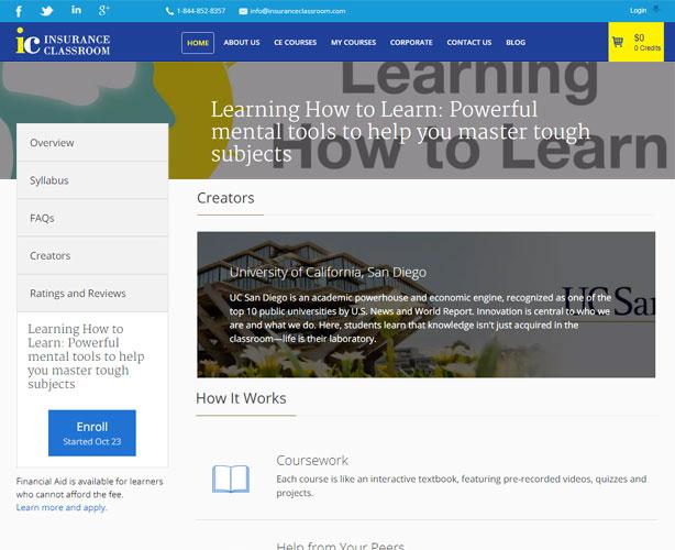 Web Application for  USA Continuing Education Company
