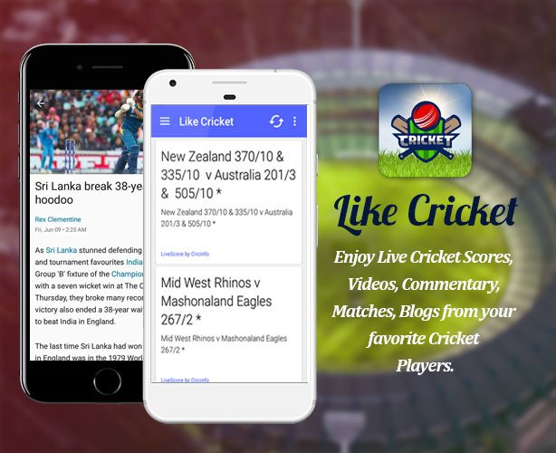 Android and iPhone App Development of Cricket App with Live Cricket Score