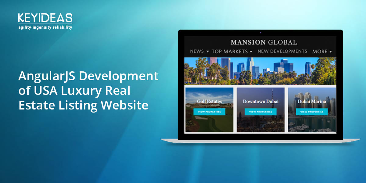 AngularJS Development of USA Luxury Real Estate Listing Website