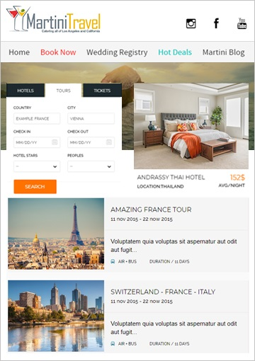 PHP Website Development for Los Angeles, California Based Travel Agency