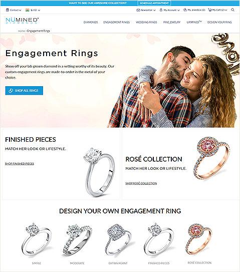 Jewelry Web Design and Development for a Chicago E-commerce Store