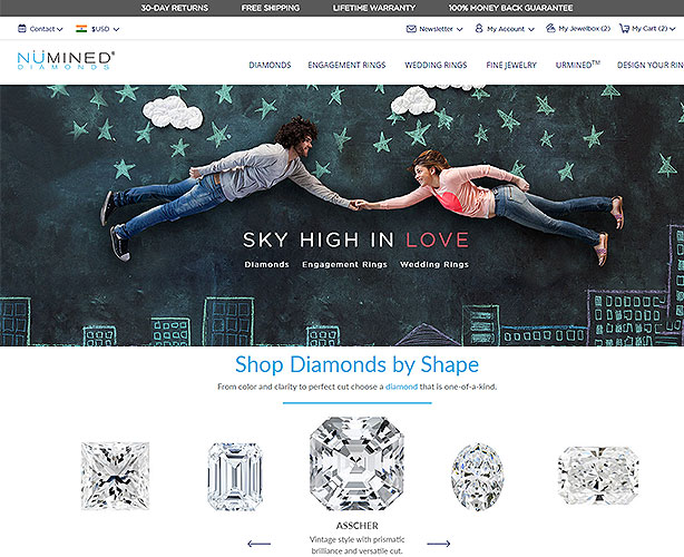 Jewelry Web Design and Development for a Chicago E-commerce Store