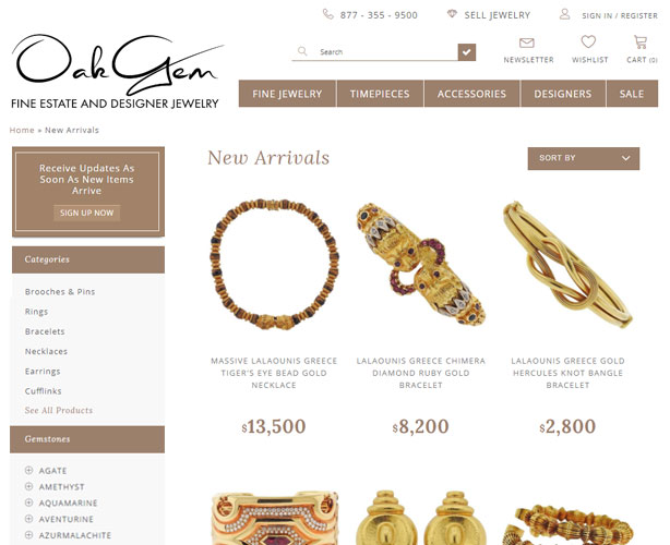 Shopify Based Online Jewelry Store