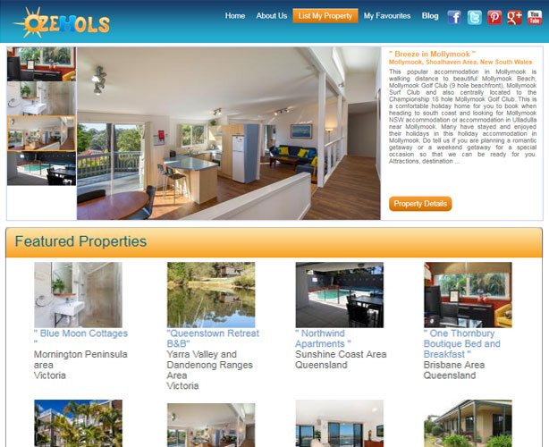 PHP Web Development for Sydney Travel Agent providing Holiday Rental Property