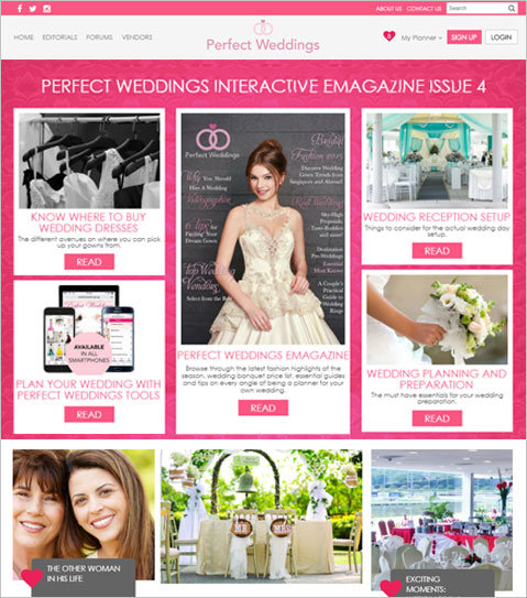 Website UI/UX Design & Development using PHP & MySQL for a Wedding Planner