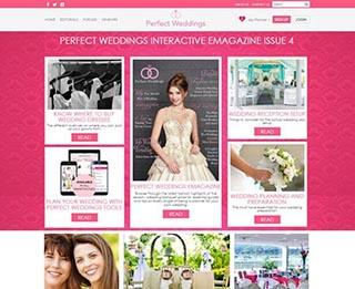 Website UI/UX Design & Development using PHP & MySQL for a Wedding Planner