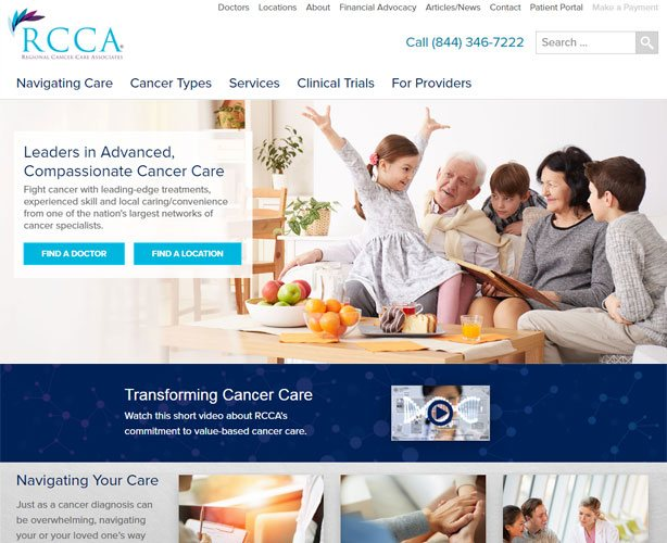 Development of WordPress Based Website for USA Cancer Care Center