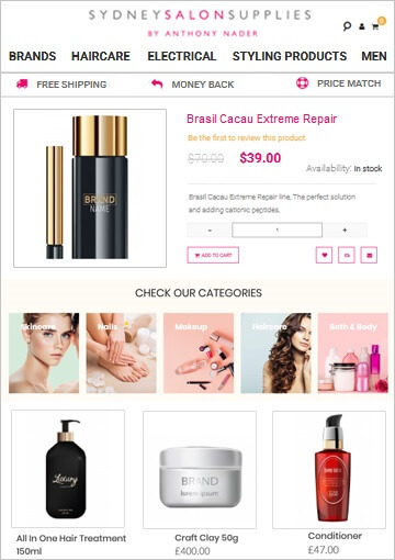 Magento eCommerce Development for Beauty and Hair Supply