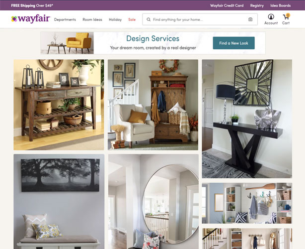 Website for Boston Retail Company
