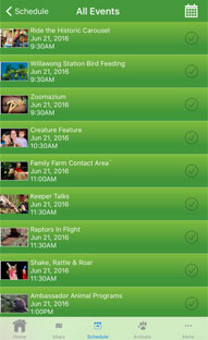 iPhone Mobile App for an Animal Zoo