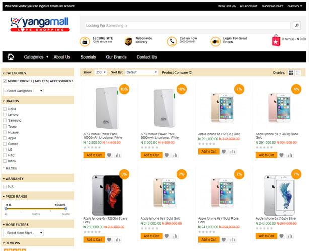 Website for Nigeria Online Retail Company
