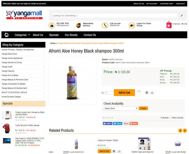 E-commerce Website for Nigeria
