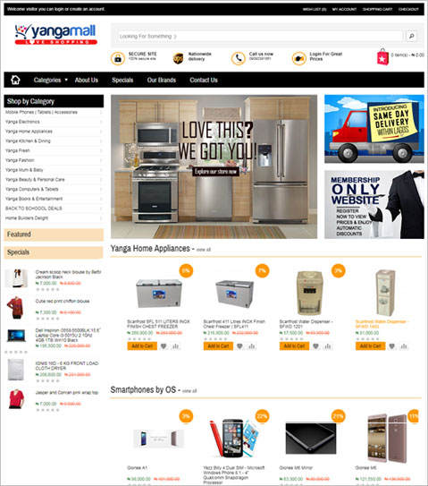 OpenCart Based E-commerce Website for Nigeria Online Retail Company
